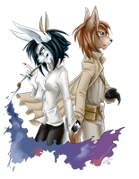 Charlie Dark and Grafety D'Auer by SilveMaran