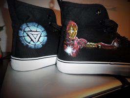 Hand painted Iron Man shoes by maja135able