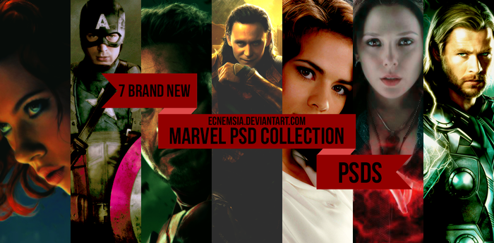Marvel PSD Collection by ecnemsia