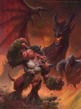Gruul Vs. Deathwing by AlexHorley