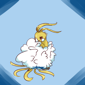 Shiny altaria by Artistic-Creature12