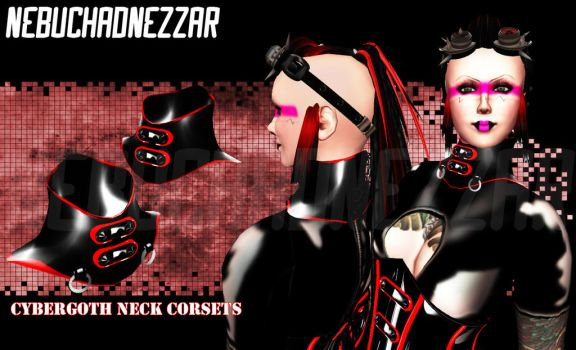 Cybergoth Neck Corsets by Rehula