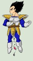 V is for Vegeta by Doomami