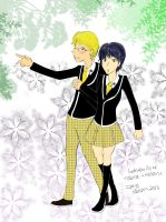Tobita and Hotaru's Illusion Date by tranis-not-here