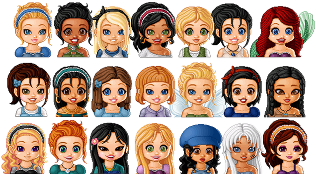Disney Girls by Christine-Love