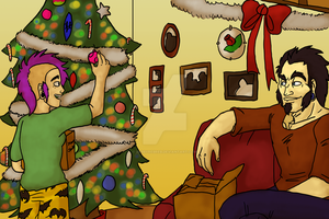 Advent 4- a lil Christmas by Backwardstwin2