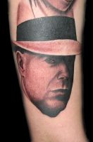 Bruce Willis tattoo by JaredPreslar