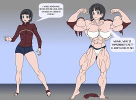 Suguha muscle growth by LordKelvin
