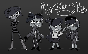 Mystery Kids: Coraline, Rax, Mabel and Dipper by 10SHADOW-GIRL10