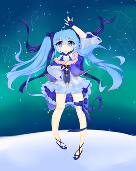 Snow Miku 2017 by Nyvokarts