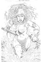 Commission Red Sonja by wgpencil