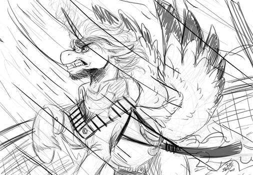 Braving the Maelstrom sketch. by 39-TheWolf