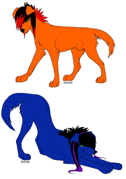 Scene Teen Dogs Adoptables by Butterfly-TF