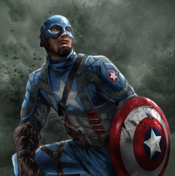 CAPTAIN AMERICA UPDATED by rocketraygun