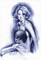 Keira Knightley Ballpoint Pen by AngelinaBenedetti