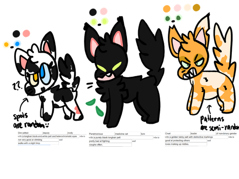 warrior cat adopts (2/3 open) by septemburr-adopts