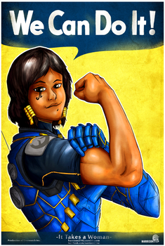Pharah - It Takes a Woman Zine-preview by harrison2142