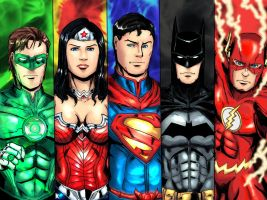 Justice League Group 1 by cpuhuman