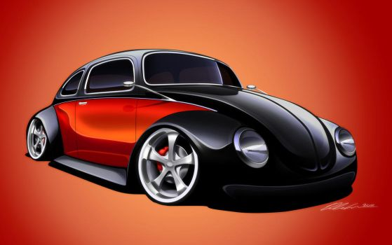 Volkswagen Beetle Custom by dazza-mate