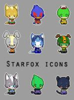 Star Fox Icons by karnalux