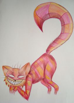 Cheshire made of fire by gracheke