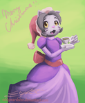 Christmas AT: Violet by eddywardster