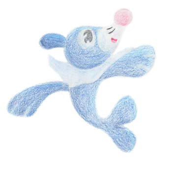 Popplio - Traditional by BlondeSky