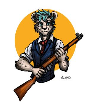 Muralku the Cheetah Sharpshooter - Commission by TheLivingShadow