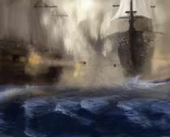 Water And Ship by PeterAJ