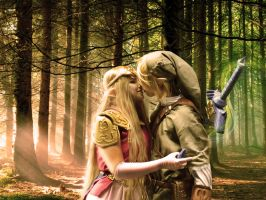 Zelda and Link by Carollinae