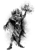 Ghoul, Necromancer by butterfrog