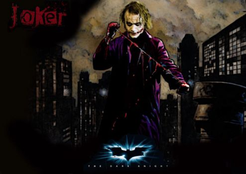 dark knight joker by bluedragon77