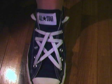 Converse Laces - Pentagram by Redfred92